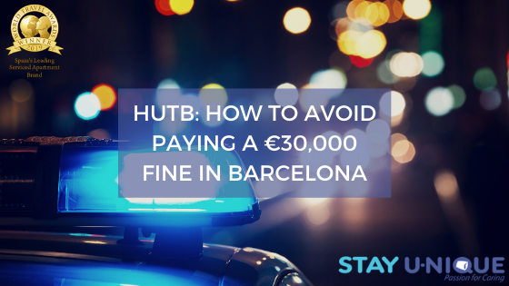 HUTB: How to Avoid Paying a €30,000 Fine in Barcelona