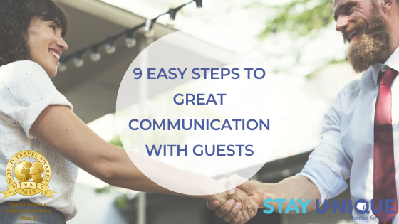 9 Easy Steps to Great Communication with Guests