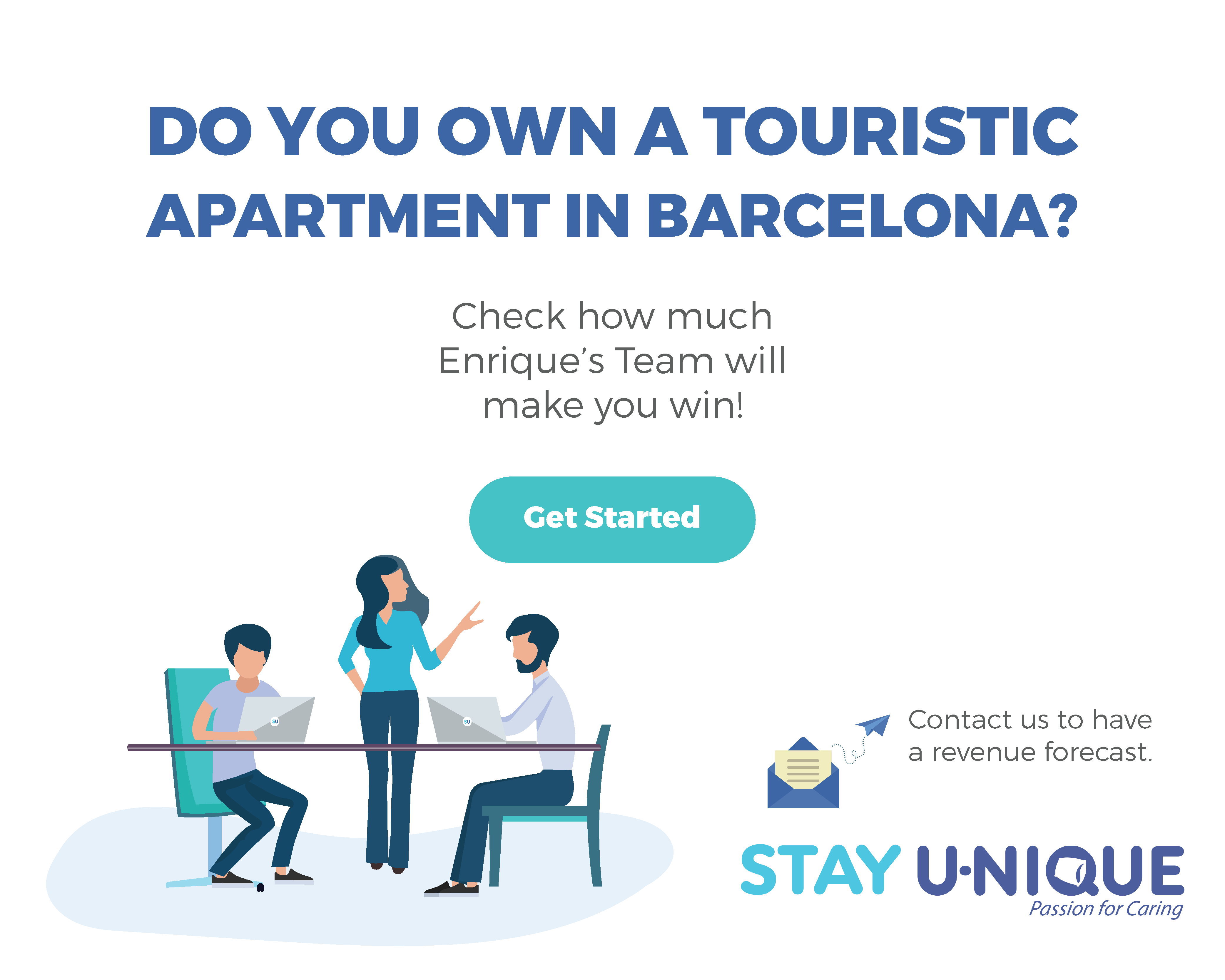Do you own a touristic apartment in Barcelona?