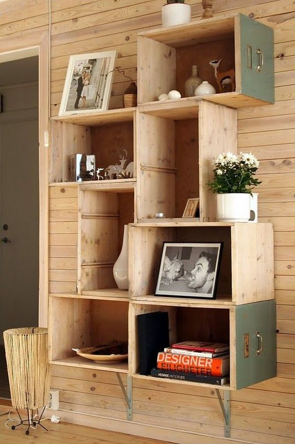 Recycled furniture in touristic apartment